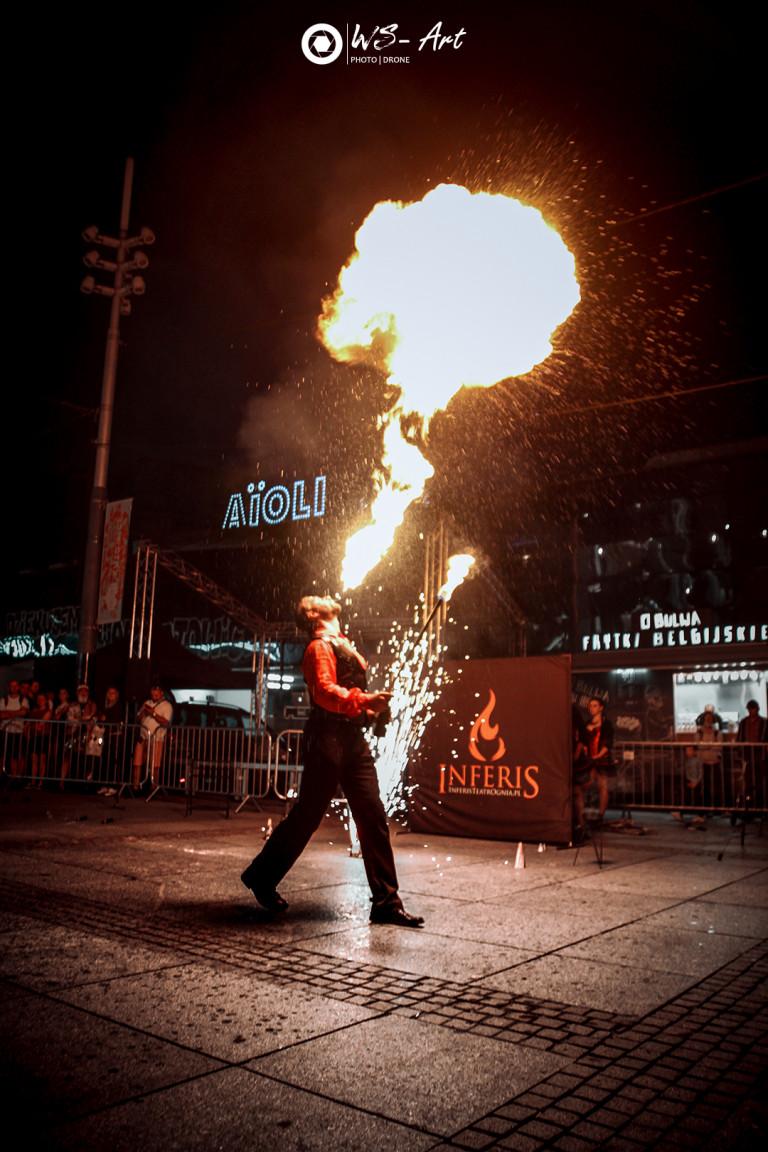 Inferis Teatr Ognia fireshow taniec z ogniem