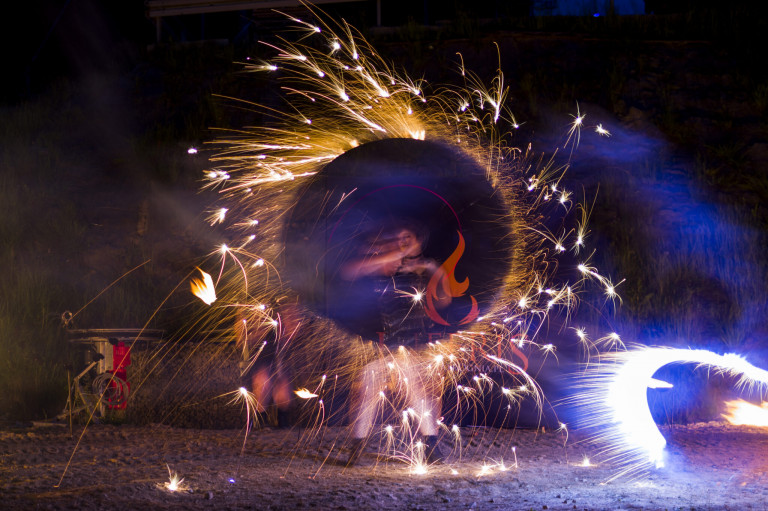 Inferis Teatr Ognia pokaz z ogniem