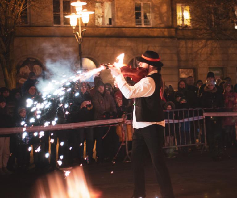 Inferis Teatr Ognia fireshow pokaz tańca z ogniem